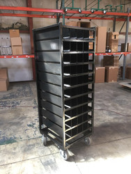 Heavy Duty Oxygen Cylinder Rack with Individual Cylinder Compartments