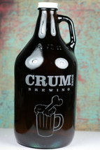 Engraved 64oz Growler with Custom Homebrew Design or Art