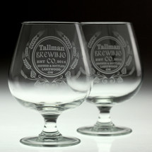 Hops & Wheat Personalized 18oz Snifters | (Set of 2)