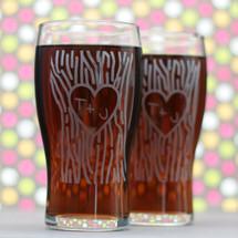 Engraved Pilsner, Wedding Gift, Personalized Gift, Custom Gift, Etched Gift, Wedding Favor