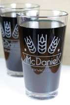 Personalized Beer Glass Gift | Custom Engraved Pint Glasses | Modern Wheat Brewing Company | (Set of 2)