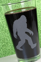 Engraved Sandblasted Bigfoot|Etched Pint Glass|Engraved Pint Glass|Engraved Gift|Personalized Gift|Etched Gift|Engraved Glassware|Custom Gift|Etched Glassware|Custom Glassware|Personalized Glassware|Personalized Promotional Products|Glass Blasted