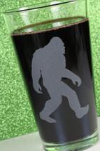 Engraved Sandblasted Bigfoot|Etched Pint Glass|Engraved Pint Glass|Engraved Gift|Personalized Gift|Etched Gift|Engraved Glassware|Custom Gift|Etched Glassware|Custom Glassware|Personalized Glassware|Personalized Promotional Products|Glass Blasted