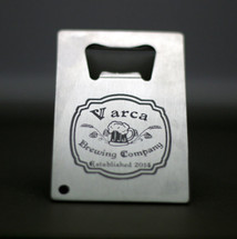 Engraved Bottle Opener Personalized with Old Fashion Label Design