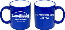 Custom listing for James - 36 double sided laser engraved 11oz blue mugs