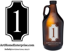 Custom listing for Joshua - 25 growlers with Arthome art