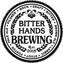 Custom listing for bernard63k - 64oz growler and 4 pints with Bitter Hands art