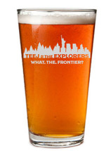 Custom listing for Julia - pint glass with Teej art
