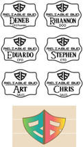 Custom listing for Rhiannon -6 name tags for Reliable Bud