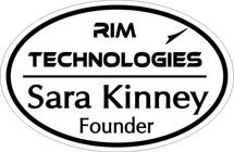 Custom listing for Sara - name tag with Rim Technologies art