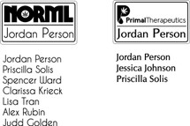 Custom listing for Jordan - 9 name tags 7 NORML and 2 Primal