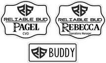 Custom listing for Rhiannon - 7 reliable bud name tag