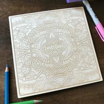 Symmetrical Pattern 1 wood coloring panel