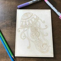Jellyfish Patterns wood coloring panel