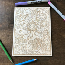 Kaleidoscope of Patterns wood coloring panel