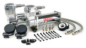 All 444C compressors feature a head assembly that includes a newly-developed, patents pending intercooler head. Additionally, they are equipped with a stainless steel braided leader hose with inline check valve assembly that serves to protect the compressor by eliminating the possibility of high amperage restarts.Buy this dual pack and save!