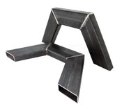 """2"""" X 4"""" BOX TUBING ONE PIECE NOTCH. SOLD IN PAIRS"""