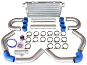 """Tube & Fin Intercooler  -Core Size: 23.5x11.5x2.75 inch  -Overall Size: 30.75x11.75x3 inch  -Inlet and outlet sizes: 3 inch   Great for Many Turbo Intercooler Applications.   Item(s) Included:  -Intercooler x1  -3"""" 45 Degree Aluminum Pipe x2  -3"""" 75 Degree Aluminum Pipe x2  -3"""" Straight Aluminum Pipe x2  -3"""" U-Bend Aluminum Pipe x2  -3"""" Straight Silicon Hose x6  -3"""" 45 Degree Hose x1  -3"""" 90 Degree Hose x1  -3"""" Stainless Steel T-Clamp x16  -Blow Off Valve x1  -3"""" Aluminum BOV Flange Pipe x1  -Vacuum Hose And Accessories"""