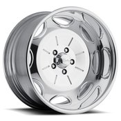 Raceline Billet wheels are CUSTOM BUILT to your order in our Southern California wheel factory. Each wheel center is precisely CNC machined out of a solid 6061 T6 forged billet aluminum disc.After the finishing process, the center is then assembled into a spun aluminum rim to the exact offset you require for your build. These are polished. Powdercoat available for additional fee.