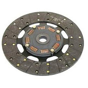Ram 300 Series clutch discs feature a polyurethane-encapsulated sprung hub to handle higher shock loading than standard discs. They also have premium, non-asbestos, organic facings bonded to a steel backing for better heat dissipation and greater strength. Available with a flat carrier (300 Series race) or a marcel carrier (300M Series) for reduced chatter and smooth engagement, they work great for race or Hot Street applications.  Input Spline Quantity:26 Input Shaft Diameter:1.125 in. Disc Diameter (in):11.000 in. Disc Material:Organic Disc Style:Full face, sprung hub