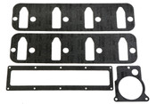 Port Style:Stock - Cathedral  Port Height (in):2.610 in.  Port Width (in):1.090 in.  Water Crossover Style:Open  Quantity:Sold as a set.  Use Holley intake manifold gaskets for the reliable sealing of your manifold. Do it right the first time.