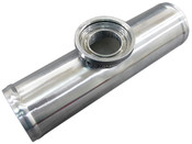 "2.25"" O.D. BOV FLANGE PIPE, Polished Aluminum, 9"" long, for HKS SSQV/SQV Blow Off Valves"