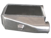 """Aluminum Liquid Water to Air Intercooler.   - Overall Size: 12""""x11""""x4.5"""" - Core Size: 11""""x6""""x4.5"""" - 3"""" Air Inlet Outlet - NPT 1/2 Water Inlet Outlet - 4.5"""" Thick  This is a Huge Liquid to Air Intercooler, With Built-in cast Bungs for easy Install, Perfect for High Power Applications, Supports 1000+ HP"""
