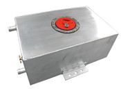 """Polished Aluminum Ice Box For Turbo Or Supercharger Heat Exchange System   -Size: 14""""x8""""x5"""". 2.4 Gallon. -Water Inlet outlet are 3/4"""" OD. -Rolled or Beaded ends to maximize sealing.  -Big Copper Drain Plug.  -3"""" Opening Stainless Steel Flush Mount Cap for Fast Filling. -Flush Bottom Mounting Brackets for Easy Install"""