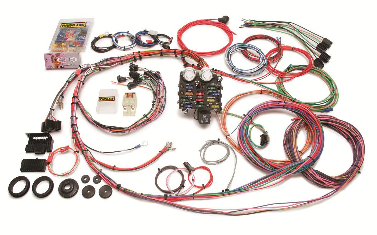 Painless Performance 19-circuit GMC/Chevy truck harnesses consists of a new  chassis designed