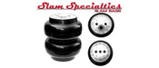 "RE-5, 5.5"" SLAM SPECIALTIES 1/2"" PORT, 200 PSI  Ideal for Compact and Light-weight vehicles.   Features:  5.5"" Diameter Single 1/2"" NPT Port 200 PSI Rated (2) 3/8""-16 Mounting Holes Top (3) 3/8""-16 Mounting Holes Bottom 2.9"" Collapsed Height 8.0"" Extended Height Slam Specialties Has been designing and building Air Springs in the USA since 2001. We are dedicated to providing the best possible products for the automotive aftermarket, and industrial industry. Slam Specialties Air Springs give more travel, better pressure handling capability, and a better ride than others on the market. The reason for this is that they are designed specifically to work in your vehicle.   SS Series information: Slam Specialties is proud to announce the release of the new SS Series. This new line of bags is the culminationof years of research and design to push air springs to the next level.  Building from the bulletproof platform that Slam Specialties is known for, we are pushing the envelope again with the SS Series. Engineered composites, T-6061 CNC Billet Aluminum threads and port, Integrated Bump Stops, updated profile design, Slam Specialties Exclusive Non-Ballooning bellows and plate design, 250psi Rating, and greater travel, are all standard features on the SS series. All of these features combine to offer the highest in performance while saving you weight. The SS Series comes in at 40% lighter than the same size RE series Air Spring."