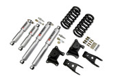 "Belltech Lowering Kits With Street Performance Shocks Stage 3 complete solution with Street performance shock absorbers  73-87 Chevrolet C10 2"" F/4"" R drop W/ Street Performance Shocks Please specify your vehicle to get more details and see if that product will work for you!"