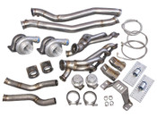 """Twin Turbo Kit for 1986-1989 Toyota Supra MK3 with GM LS1/LSx Motor Swap  Not only can you do your LS Swap  in your Mark 3 Supra, now you can TWIN TURBO your LS-swapped Supra...all in one fell-swoop!  There Are Two Crossmembers for Supra MK3, This Kit ONLY Fits 1986 to Early 1989 Model. Late 1989 to 1992 Model Has The Crossmember Engine Mount Plates At Different Angle, Does NOT Fit. Supports 800-900 WHP   Application: Chassis: 1986-Early 1989 Toyota Supra MK3 Motor: LS1/LSx Swap Transmission: T56 Manual  Items in Kit: (2) T4 GT35 Turbos  (2) 46mm Wastegate with Dump Pipes Engine & Transmission Mounts F-Body Oil Pan (2) Twin Turbo Manifold  (2) Cast Turbo Elbow Adapter Downpipe Oil Line Kit  Product Info and Spec: Turbo and Wastegate:   4"""" Air Inlet, 2.5"""" Compressed Air Outlet  Standard T4 Turbine Housing Flange  3"""" Vband Exhaust Outlet  Journal Bearing  Oil and Water Cooled  6-25 PSI Working Pressure  .70 A/R Compressor  .68 A/R Turbine  46mm Wastegate 8 PSI Manifolds:  Twin Turbo Manifold for LS1 Swap on 86-92 Supra MK3 3"""" Vband with 46mm WG Flange Engine/Transmission Mounts:  Heavy Duty 7 Gauge (0.18"""") Thick Stainless Steel Panel, with Brace Offers Strong Support Adjustable Slotted Bolt Holes Polyurethane Bushing Mounts Patented Design of Motor Mount is Billet Aluminum, Excellent Strength Downpipe:  Dual 3"""" Stainless Downpipe Ends Around Transmission Area (The Rest of the Exhaust System is NOT Included) Radiator and Pipe Shown Are NOT Included, Intercooler Kit, Catback, and Y Pipe are NOT Included."""