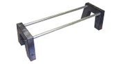 """Complete 8-piece notch with crossmember mounting holes. (2) 48"""" x 1.5"""" round crossmembers included."""