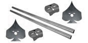 """Play your cards right! Lay your truck out, support your rear end AND look good doing it!  Includes enough that you can trim to fit your notch perfectly.   Kit includes:  (2) upper plates (2) axle brackets (2) 1.5"""" crossmembers (44"""" long)"""