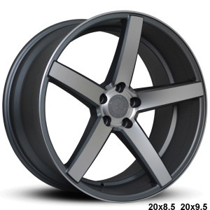 Available Sizes: 20x8.5, 20x9.5   Satin Gunmetal, Machine Face, Hub-Centric to Mercedes & BMW, TPMS Compatible.  Staggered setup  Priced as a set of 4