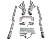 """Come on LSx fans! No more wait! Now your JDM spirit can accomodate the need for V8 power and the ultimate in reliability! Get your 350Z Swap going with our LS Swap Kit!  Included in the Kit: Heavy Duty 7 Gauge (0.18"""") Thick Stainless Steel Panel, with Brace Offers Strong Support Adjustable Slotted Bolt Holes Polyurethane Bushing Mounts Motor Mount is Billet Stainless Steel, Excellent Strength     Oil Pan: Perfect fitment, keeps factory crossmember and sway bar placement. Built-in baffles and trap doors for high performance and racing 1/2"""" Thick aluminum CNC cut flange Two -8AN fittings for external oil filter Holds 6 QT of Oil (5.5 QT for Oil Pan, 1/2 for Remote Oil Filter) Use AN Fitting and Braided Line. Use Factory LS Dipstick (Not Included)  Headers (INCLUDED):  Long Runners for Best Performance Gain 1.65"""" OD Stainless Steel Mandrel Bent Tube Runner 3"""" Vband Ends for Easy Adaptation of the Rest Exhaust System Downpipe (or Y Pipe): Dual 3"""" Stainless Downpipe Fits Stock Catback Y Pipe (Has 2.5"""" Two Hole Flange) Note: Rest of the Catback Are NOT Included."""