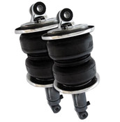 "Whether you have a custom chassis or hot rod, AirLift Performance has the solution to your air suspension needs. Our SlamAir shocks are designed to mount in place of the coil springs and shocks to give you the ground hugging stance you are looking for while retaining driveability.  Our double bellow style SlamAir shocks are normally used in the front of a vehicle in order to support the weight. While the sleeve style SlamAir shocks can be found in the rear to ensure the best possible ride quality. Along with the ability to adjust height, these twin tube shocks also have 9 different damping settings to fine tune the ride comfort and handling performance to your personal taste.  With four different lengths and multiple end mounting options, Air Lift Performance SlamAir shocks can be tailored to fit almost any application!  Features  Bellows Style Air Spring 9-way adjustable damping Compressed Length: 11.45"" / 11.11"" Extended Length: 17.03"" / 16.69"" Finish: Black Powdercoat Total Stroke: 5.18"" Load Capacity: 1730 lbs. @ 100 PSI Designed Ride Height: 13.9"" – 15.0"""