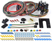 Harness Includes Circuits For: A/C & Heat Accessory / Cigarette Lighter Backup Lights Brake Lights Charging Dome Light Electric Choke Emergency Flashers Fan Relay Activation Power Fused Power Source Headlights Horn (Relay) Ignition Coil Instrument Panel Lighting and Gauges* Park Lights Radio/Clock (Constant and Switched) Starting Tail Lights Third Brake Light Turn Signals Wipers *Includes Wires For: Fuel Gauge Oil Gauge Tachometer Temperature Gauge Voltmeter Connectors Included: GM Steering Column Turn Switch and Ignition Switch Dimmer Switch (2) Headlight Pigtails 10SI & 12 SI Alternator HEI Power and Tach and (20) Extra 56 Series Terminals for use with any Factory GM 56 Series Connector such as Headlight Switch, Wiper Switch or A/C Switch/Blower Motor Specifications:  Type 21 Circuit Circuit Quantity 21 Fuse Block Included Yes Fuse Block Location Front Fuse Style ATO/ATC Ignition Key Location Column Quantity Sold as a kit Harness Length Extra-long