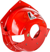 "Minimize the Destructive Effects of a Clutch/Flywheel Explosion  Manufactured from premium 1/4"" steel, Lakewood Bellhousings utilize hydroforming. This hydraulic forming process minimizes the thinning of the bellhousing's material while maintaining proper thickness in critical areas. Units are stress relieved after forming for even greater strength and then finished with a safety red enamel.  Tested to meet or exceed SFI Specification 6.1W when used with an approved block plate, Lakewood Steel Bellhousings are designed to contain a clutch or flywheel explosion with possible deformation or elongation of the housing. All bellhousings include the block plate and an SFI Spec 6.1W serial number.  Features  For passenger vehicles as noted Hydroformed steel yields a uniform 1/4"" thickness Precision drilling guarantees proper bolt hole spacing Blanchard ground mounting surfaces provide exact engine-transmission alignmentLakewood 15003LKW MIG welded thread inserts for transmission bolt pattern and clutch adjustment pivot ball Block plate included (units predrilled for full-containment block plates) SFI specification accepted by most major race sanctioning bodies Heavy-duty clutch linkage brackets where required"