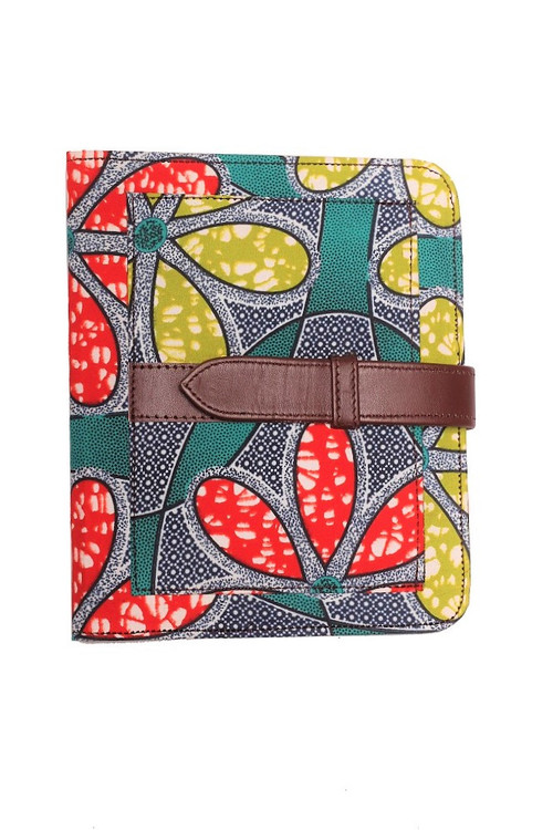 Fancy cover for your note pad, unique & eclectic way to put some soul into your stationery. Made with African print cotton fabric and suede fabric lining, front pocket and inner pocket for extra paper storage. Best part is its reuseable. Fits all A5 refil pads. Eclectic Chique works very closely with artisans in Nigeria to produce quality products that are handmade with love