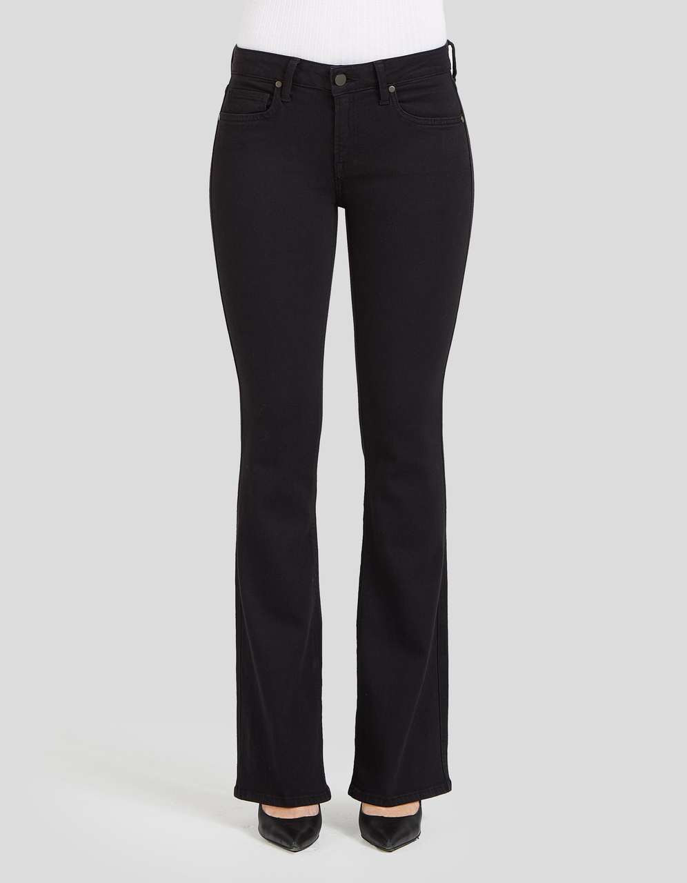 Slim Bootcut Jeans In Black Tint | Form Support Flattering Look 32 ...