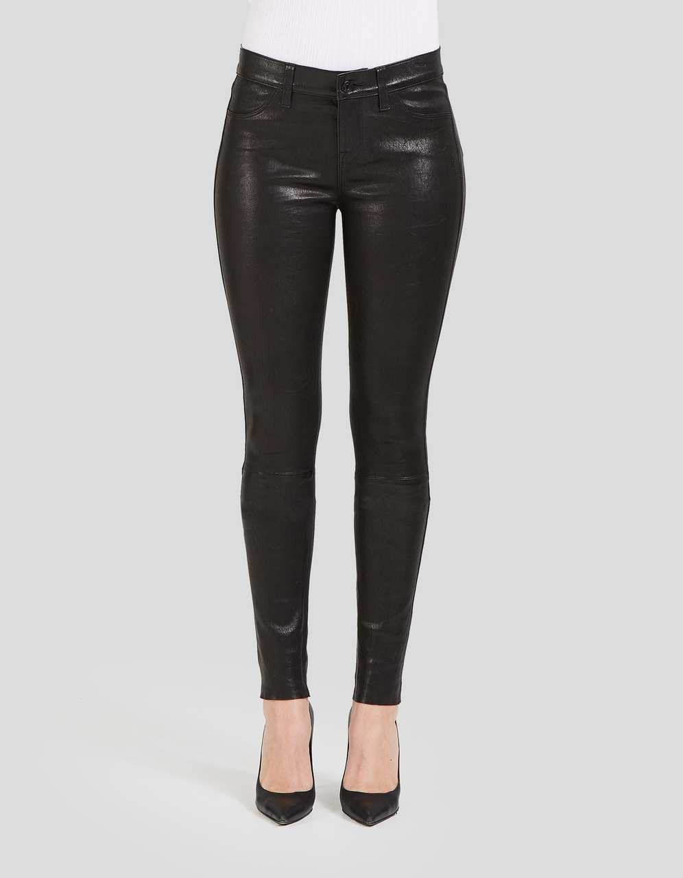 MID WAIST ANKLE SKINNY - Shya in Leather
