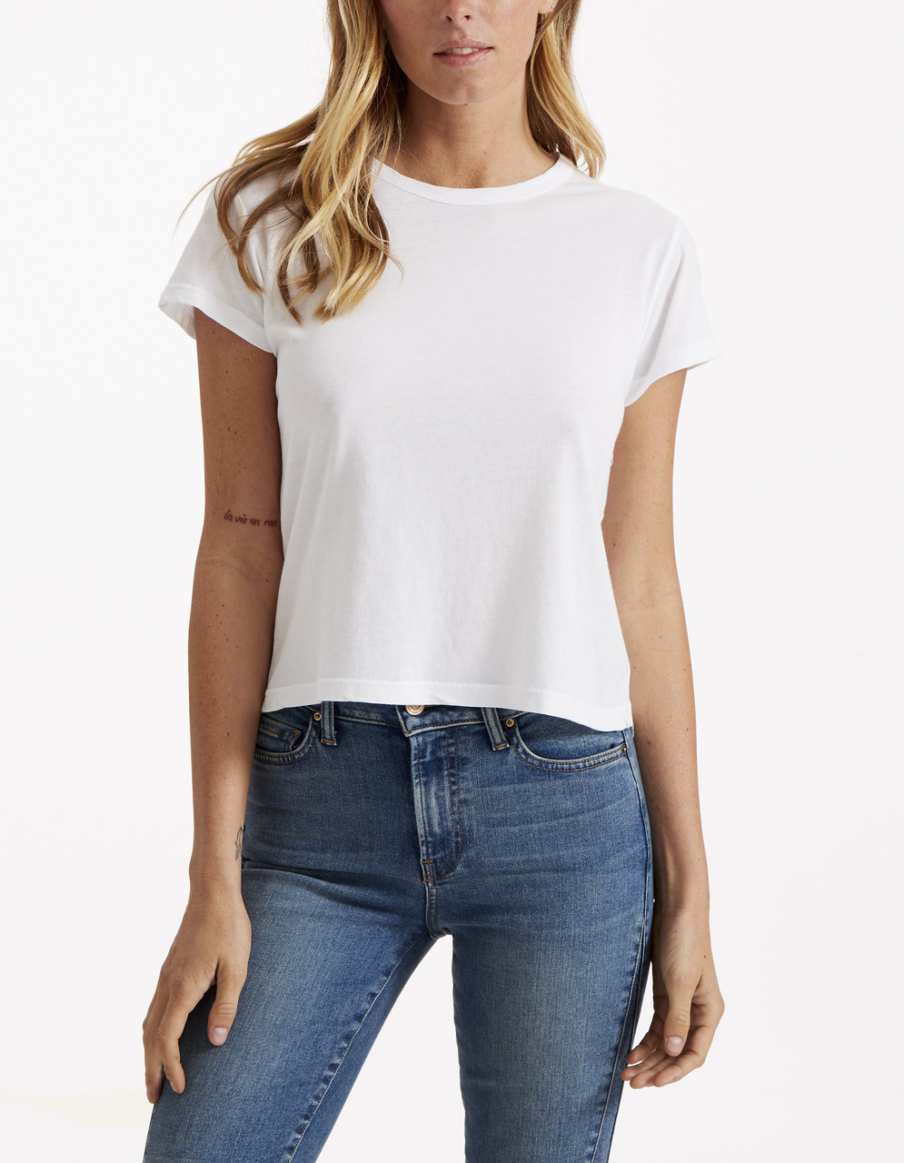 SHORT SLEEVE CROP TEE - Cassidy in Assorted Colors