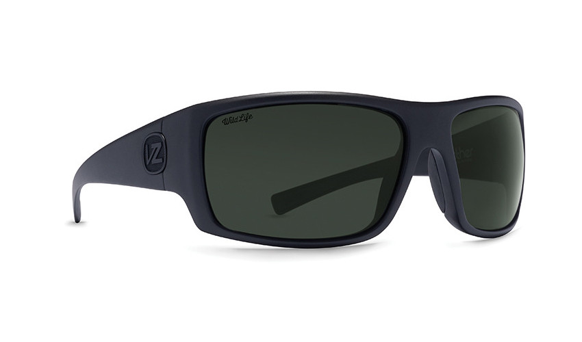 f2e30d1e391 Von Zipper Suplex Sunglasses - Black Smoke Satin - Vintage Grey Polar