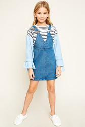 Girls Convertible Denim Overall Dress