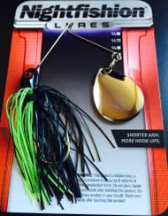 Product Description Draw nighttime bass out of their comfort zone with a premium barrel swivel that lets you retrieve as slow as you want.  Our short-armed design puts a Gamakatsu ® hook closer to the fish's mouth, increasing your chance of hook-ups.  Savor the fight.  Take your trophy.  OWN THE NIGHT!