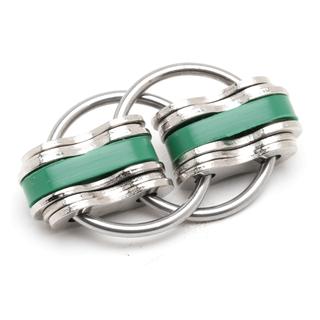 Noah Jumbo - Green (Solid Rings)