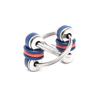 Stephie - Blue, Red, Blue (Split Rings)