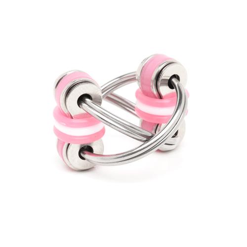 Stephie - Pink (Split Rings)