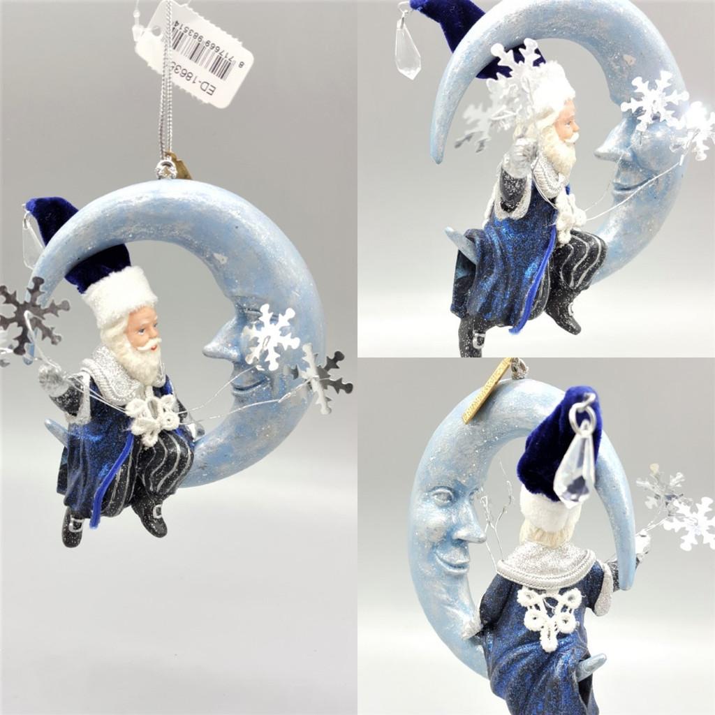 Katherine's Collection Azure Ice Santa Tree Ornament